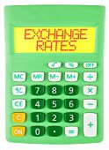 Calculator With Exchange Rates On Display