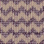 Knitted texture patterned chevron