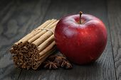 Red Ripe Apple And Cinnamon