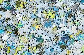 Background With Colorful Puzzle Pieces