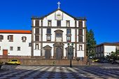 FUNCHAL, MADEIRA - OCTOBER 08, 2011:  An office building in the main square of the city