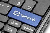 Contact Us. Blue Hot Key On Computer Keyboard.