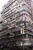 Street View Of Public Housing On November 21, 2014 In Hong Kong, China