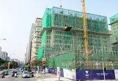 A Residential Building Is Built In Macau