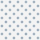 Blue And White Large Polka Dots Pattern Repeat Background