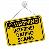Warning Of Internet Dating Scams Sign