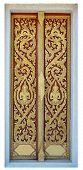 Golden Tree And Deva Carving Door