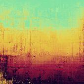 Art grunge vintage textured background. With different color patterns: green; purple (violet); orange; brown; yellow