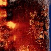 Old Texture or Background. With different color patterns: yellow; orange; brown; blue