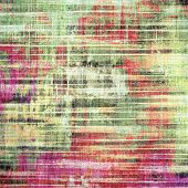 Old-style background, aging texture. With different color patterns: green; purple (violet); orange; red; yellow
