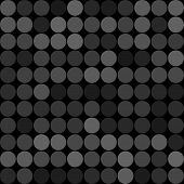 Abstract grey circles seamless pattern background