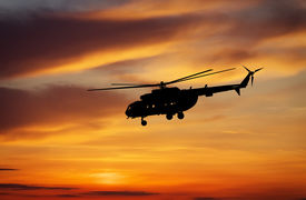 picture of helicopters  - Picture of helicopter at sunset - JPG
