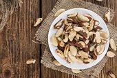 stock photo of brazil nut  - Heap of Brazil Nuts  - JPG