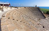 picture of greek-architecture  - Ancient Greek Roman theater in Kourion Cyprus - JPG