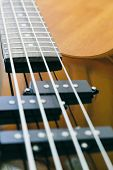 picture of pick up  - black bass guitar close - JPG