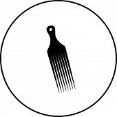 image of afro  - afro pick comb symbol - JPG
