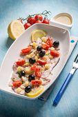 pic of black-cherry  - octopus salad with cherry tomatoes and black olives - JPG