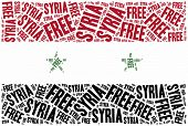 picture of civil war flags  - Free Syria - JPG