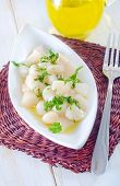 image of scallops  - scallop on plate and on a table - JPG