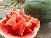 picture of watermelon slices  - Sliced  - JPG