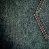 pic of denim jeans  - closeup detail of blue denim jeans trouses pocket texture background - JPG