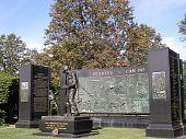 picture of arlington cemetery  - SEABEES Memorial in autumn in Arlington National Cemetery Arlington Virginia USA - JPG