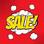 stock photo of nuke  - Sale comic book banner - JPG