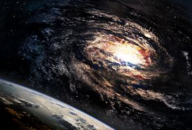 pic of incredible  - Incredibly beautiful spiral galaxy somewhere in deep space - JPG