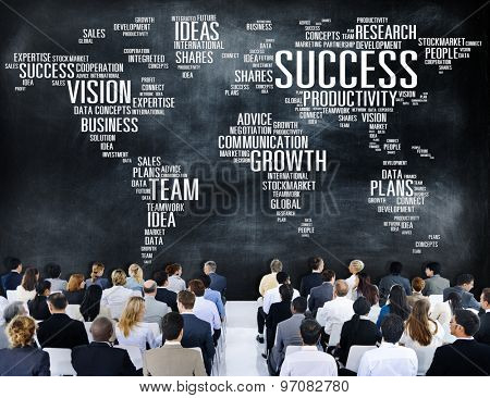 Global Business People Corporate Conference Seminar Success Concept