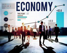 picture of economy  - Economy Banking Finance Investment Money profit Concept - JPG