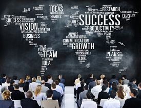 stock photo of seminar  - Global Business People Corporate Conference Seminar Success Concept - JPG