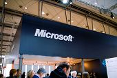 Hannover, Germany - March 5: Stand Of The Microsoft On March 5, 2011 In Cebit Computer Expo, Hannove