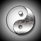 image of ying-yang  - Symbol of yin and yang of the background - JPG
