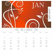 An image of January month victorian calendar page.