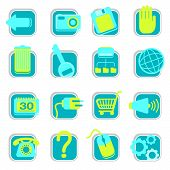 pic of internet shop  - 16 web icons and design elements for web - JPG