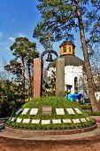 Knoll of memory near Chernobyl church