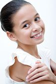 Beautiful and confident young girl of mix parentage