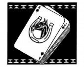 Racehorse Playing Cards - Retro Ad Art Banner