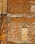 Brick Wall With Bricked In Doorway