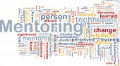 foto of mentoring  - Background concept word cloud illustration of mentoring - JPG