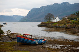 pic of carron  - A grounded fishing boat outside of Plockton - JPG
