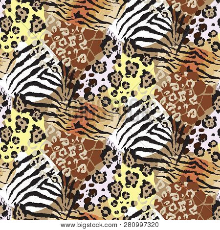 Vector Abstract Seamless Pattern With