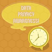Conceptual Hand Writing Showing Data Privacy Awareness. Business Photo Text Respecting Privacy And P poster