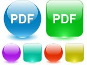 Pdf. Interface element. Raster illustration.