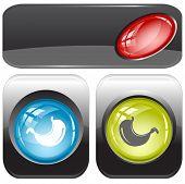 Stomach. Internet buttons. Raster illustration. Vector version is in my portfolio.