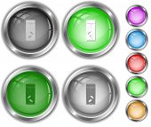 Glass with tablets. Raster internet buttons. Vector version is in portfolio.