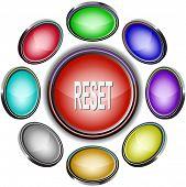 Reset. Internet icons. Raster illustration.