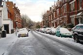 LONDON - JANUARY 7: Snow covers the streets of Hampstead on January 7, 2010 in London. Britain is experiencing the coldest Winter in many years.