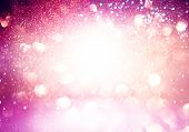 Abstract Bokeh Background, Shining Lights, Holiday Sparkling Atmosphere, Celebration Ambient poster