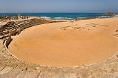 An hippodrome of the period of the Roman invasion in national park Ceasarea on Mediterranean sea